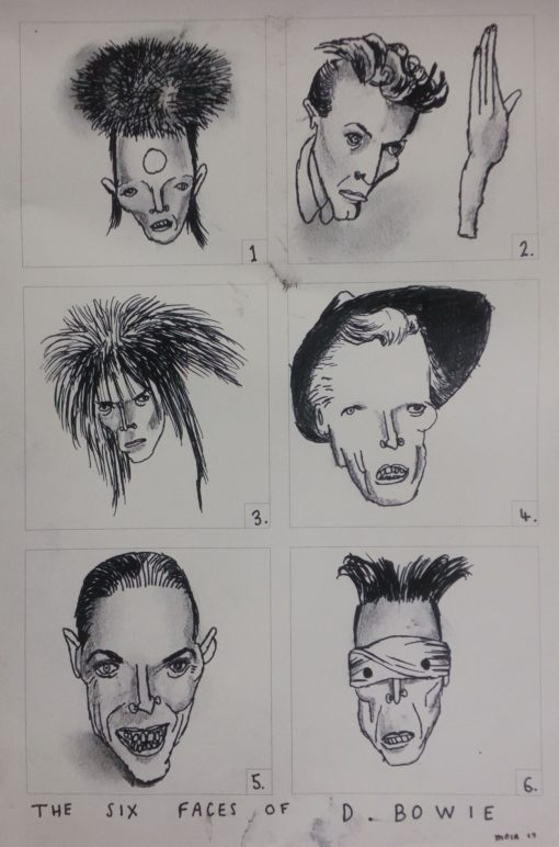 the 6 faces of David Bowie