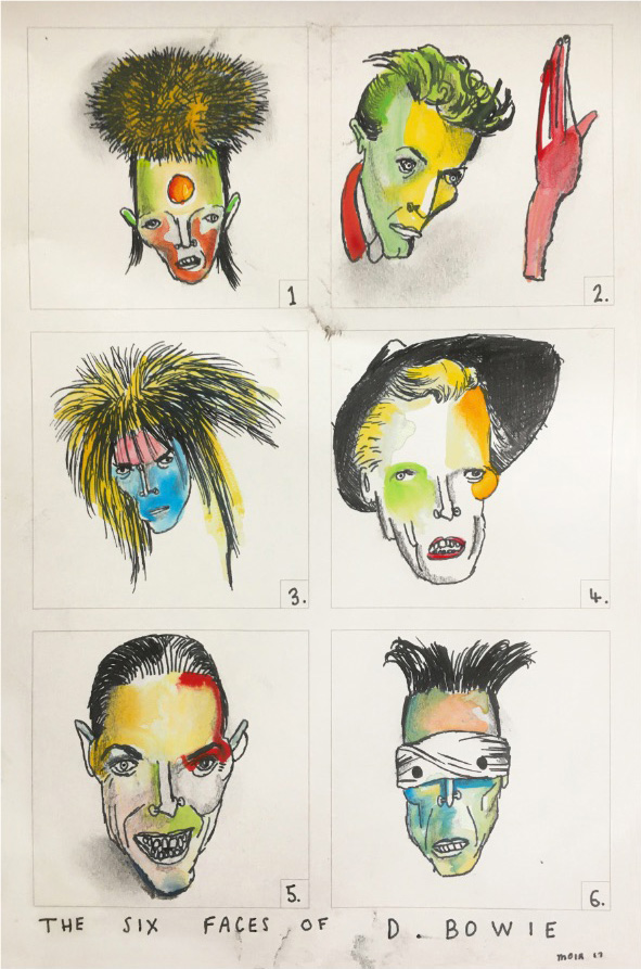The Six Faces of David Bowie - Collectors Edition print by Vic Reeves