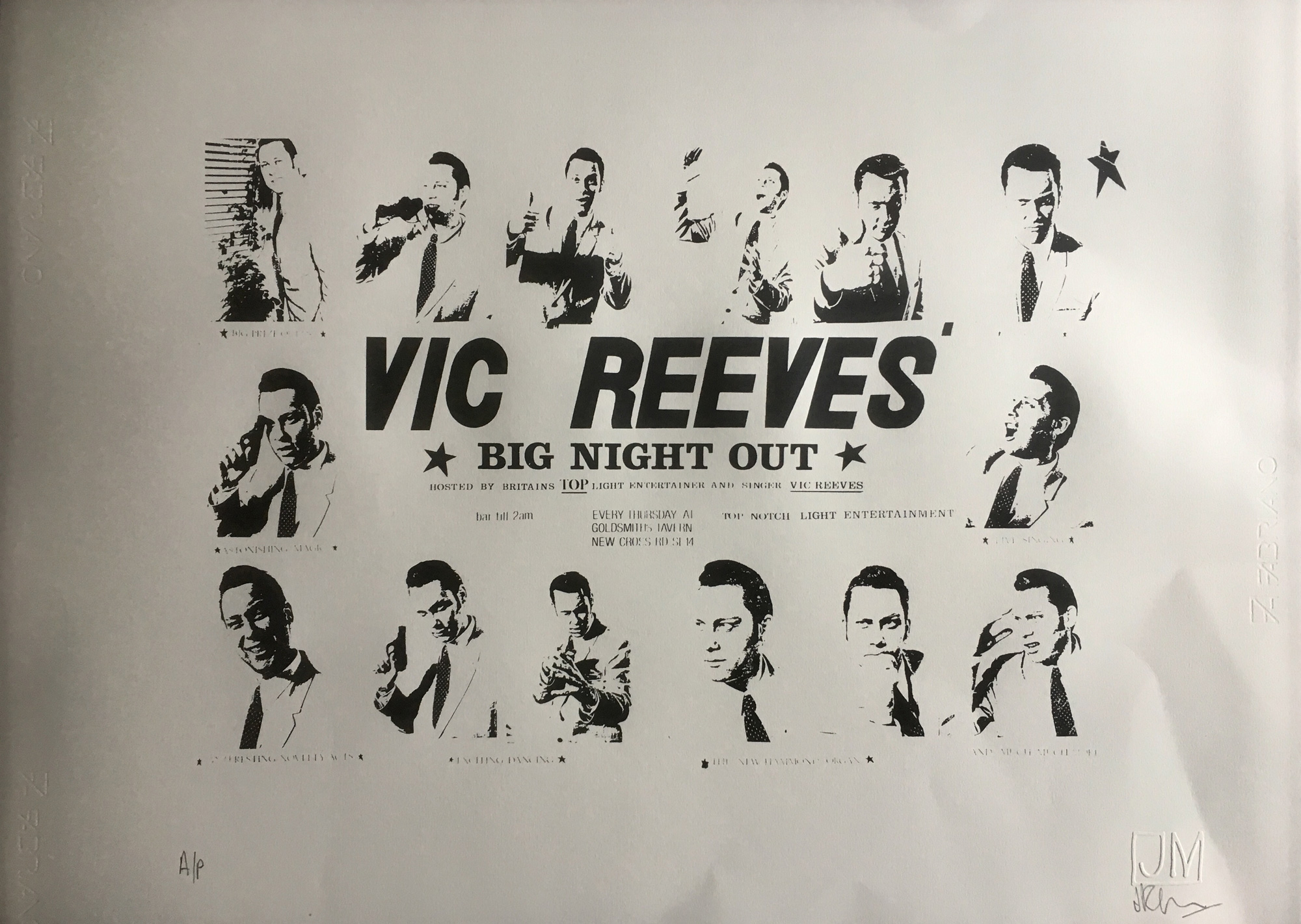 Vic Reeves Big Night Out 30th Anniversary Limited Edition Screen Print Vic Reeves Art