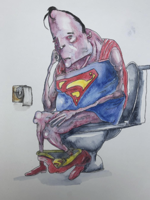 Superman At Ease