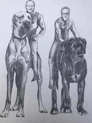 Vic-and-Bob-on-dogs