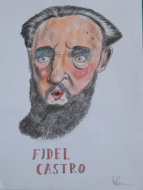 Fidel-Castro-Vic-Reeves-Art