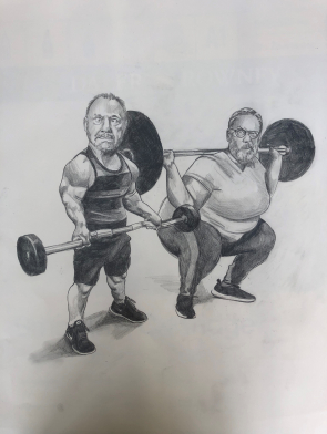 vic and bob at the gym