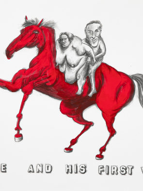 BRUCE-AND-HIS-FIRST-WIFE-ON-RED-HORSE